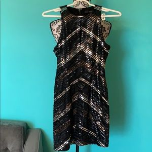 Guess Los Angeles Sequin Stretch Formal Dress XS